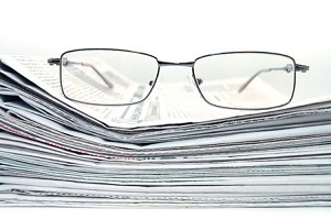 Newspaper Glasses